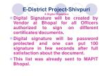e district project shivpuri 8 digital signature