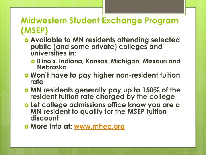 Midwestern Student Exchange Program (MSEP)