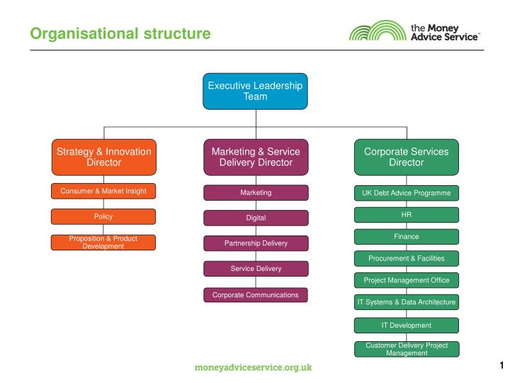 organisational structure n.