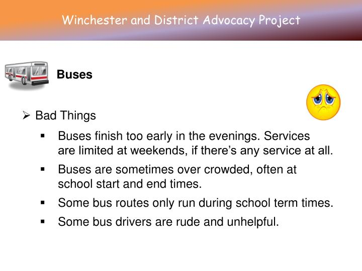 Winchester and District Advocacy Project