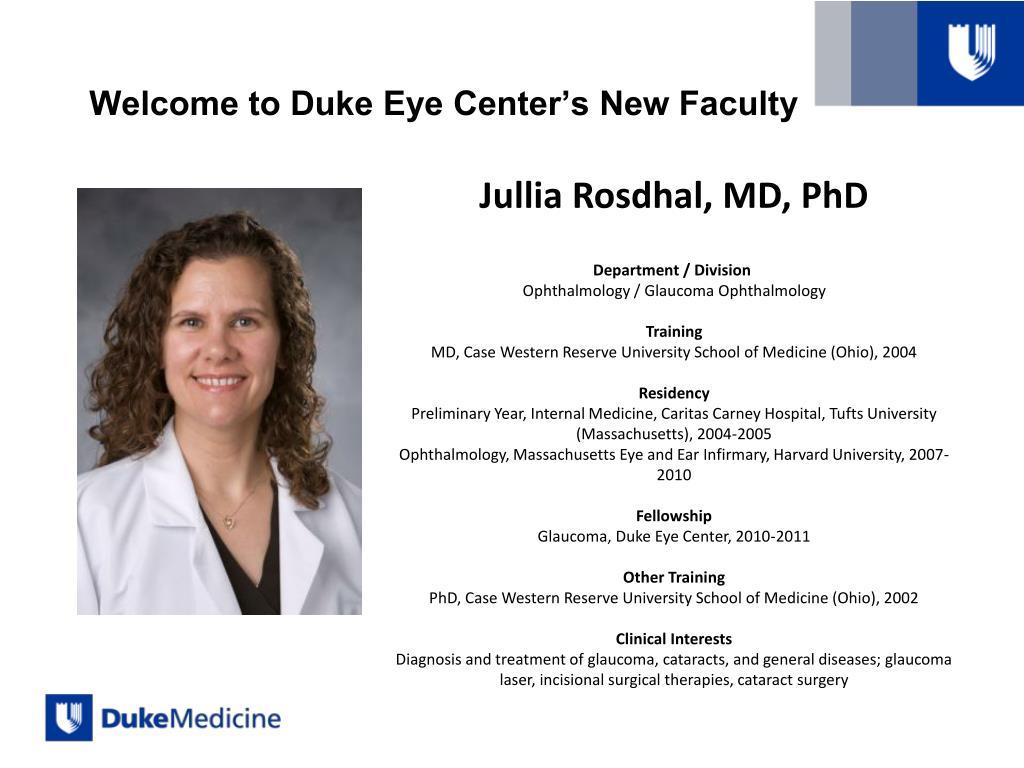 PPT - Welcome Duke Eye Center Alumni AAO 2011 – Orlando, Florida