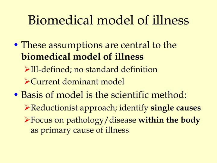 Biomedical model of illness