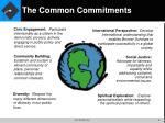 the common commitments