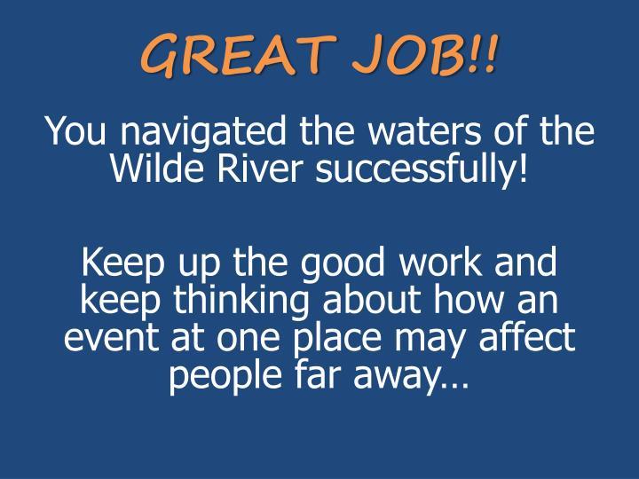 GREAT JOB!!