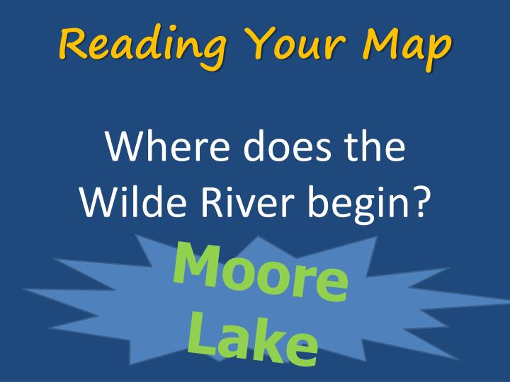 Reading your map1