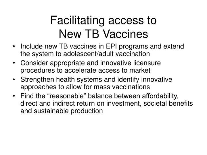 Facilitating access to