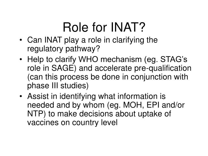 Role for INAT?