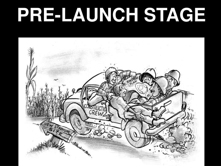 pre launch stage n.