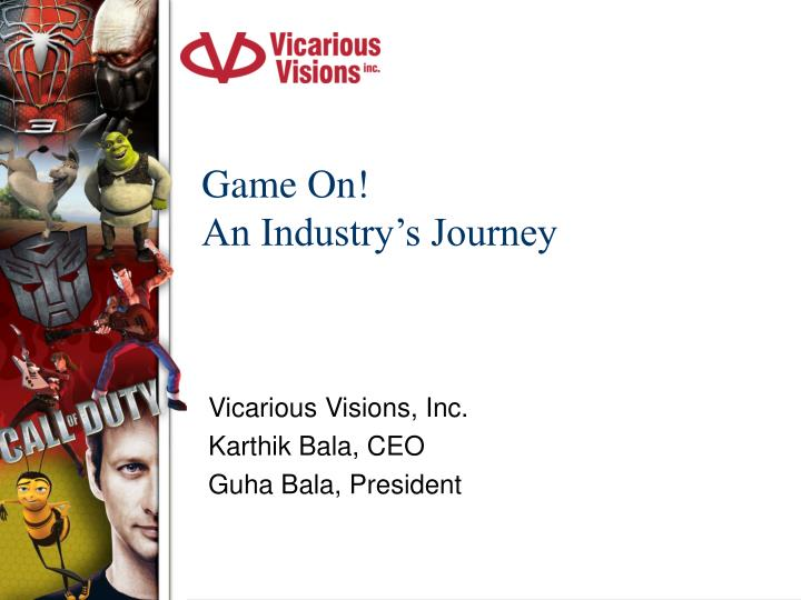 game on an industry s journey n.