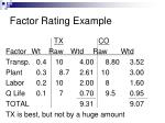 factor rating example2