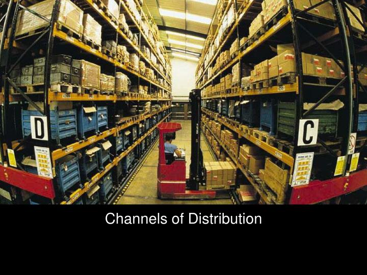 channels of distribution n.