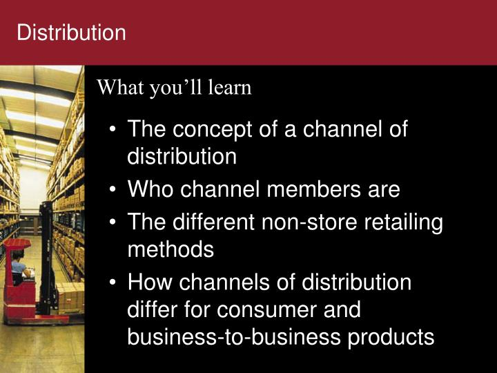 coordination in channels of distribution the The article analyses a multi-channel, multi-echelon supply chain model for single items comprising the manufacturer, distributors and retailers as the members of the chain the profit function of each individual member is formulated based on the demand rate of the customers at each stage as a linear.