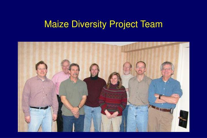 Maize diversity project team