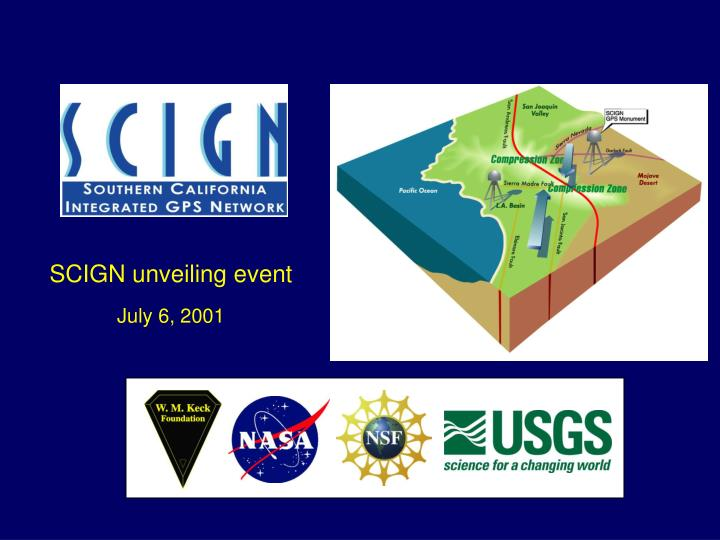 scign unveiling event july 6 2001 n.