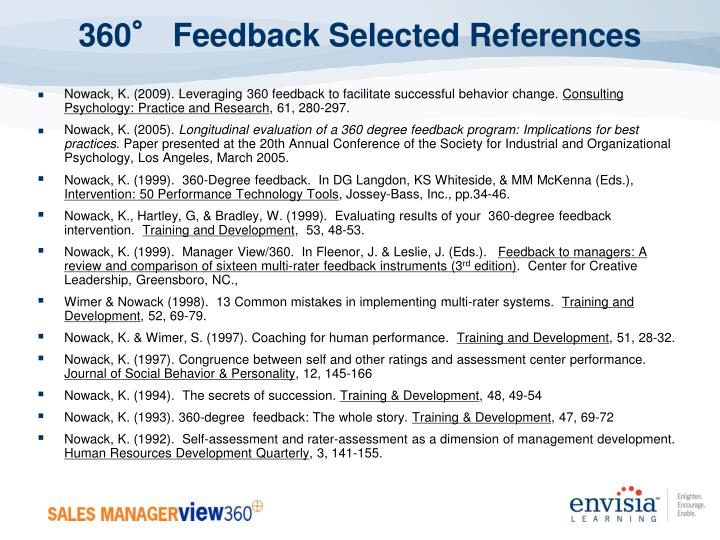 360° Feedback Selected References