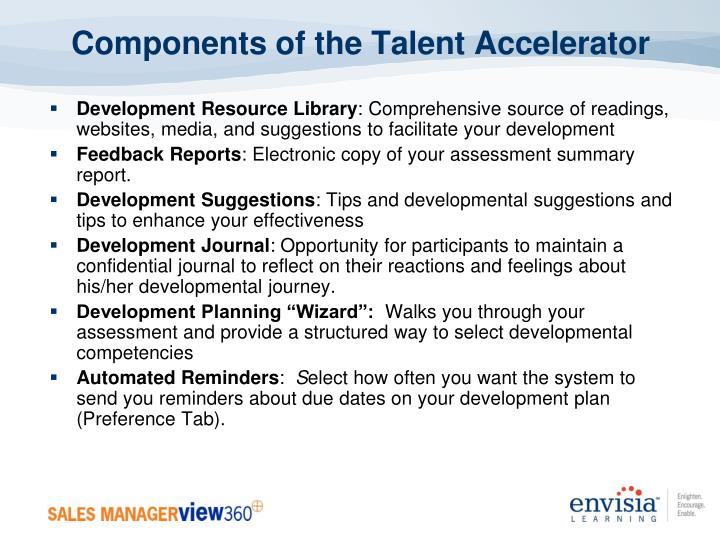 Components of the Talent Accelerator