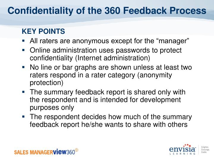 Confidentiality of the 360 Feedback Process