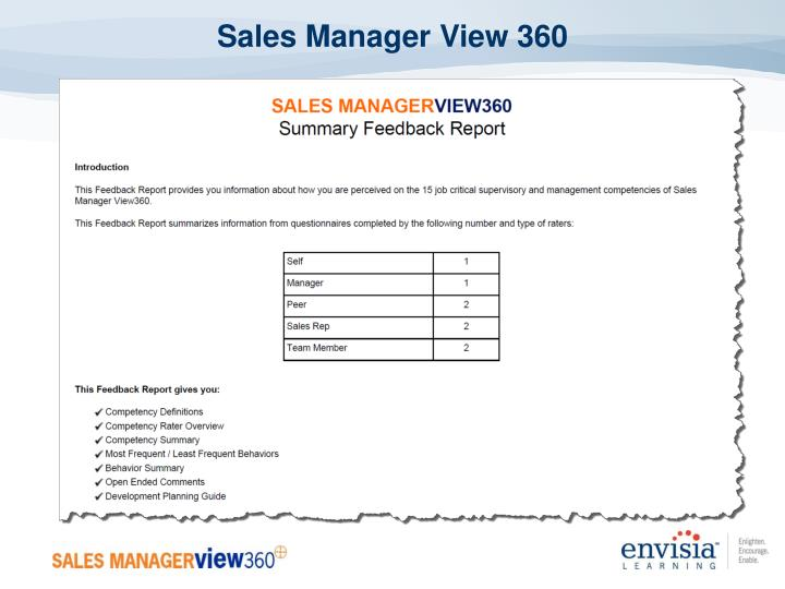 Sales Manager View 360