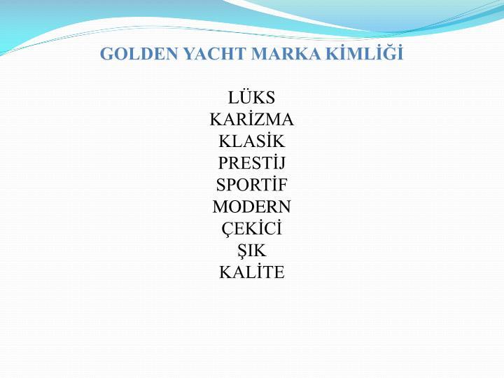 GOLDEN YACHT MARKA KİMLİĞİ