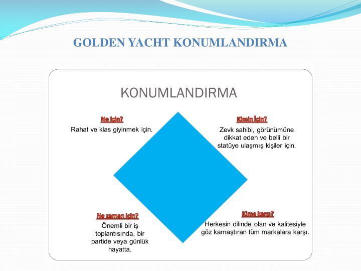 GOLDEN YACHT KONUMLANDIRMA