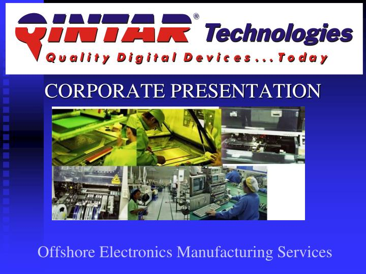 offshore electronics manufacturing services n.