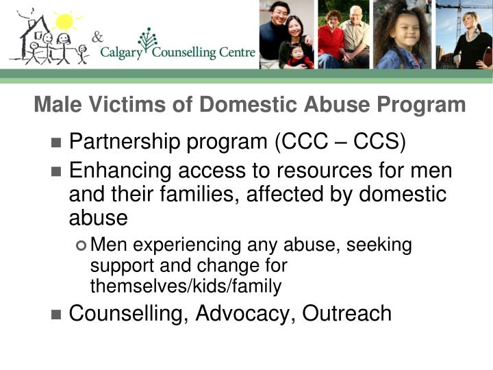 Male victims of domestic abuse program