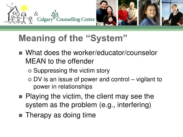"""Meaning of the """"System"""""""