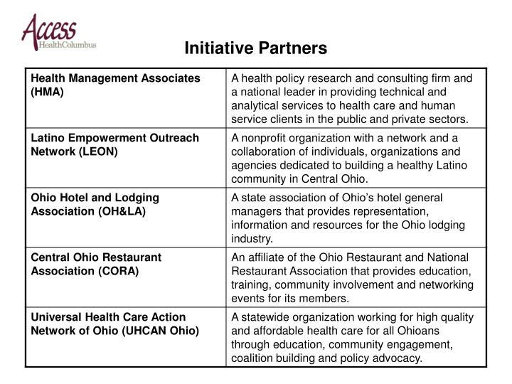 Initiative partners