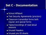 set c documentation