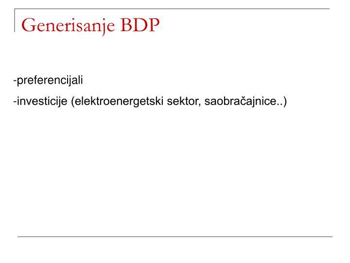 Generisanje BDP
