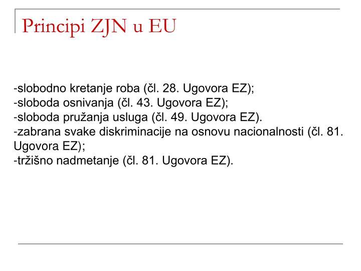 Principi ZJN u EU