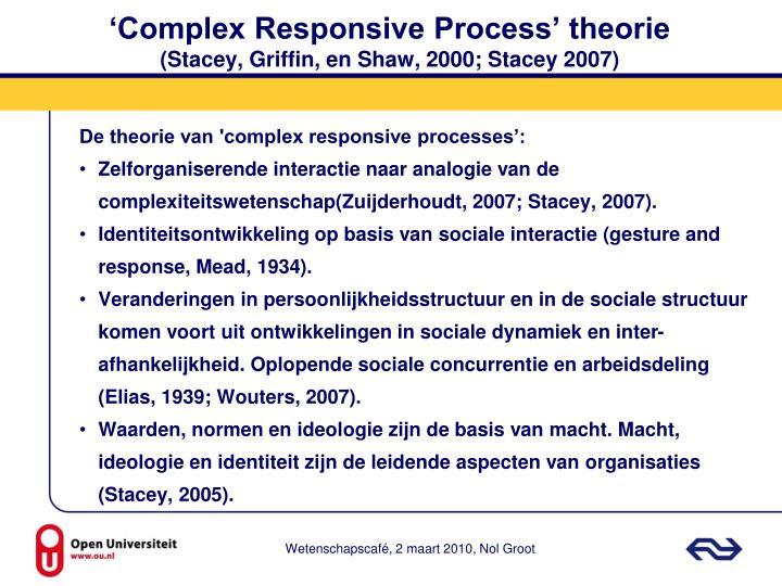 'Complex Responsive Process' theorie