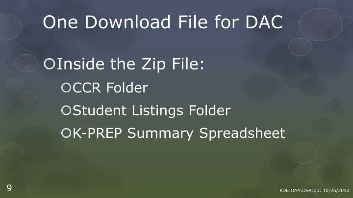 One Download File for DAC