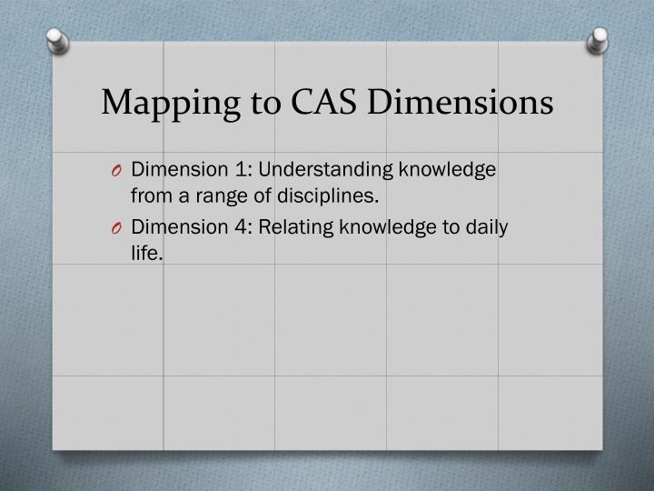 Mapping to CAS Dimensions
