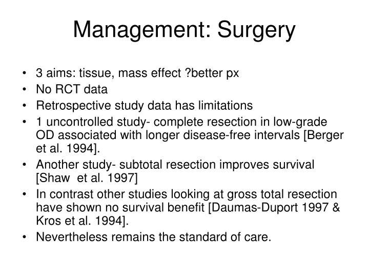 Management: Surgery