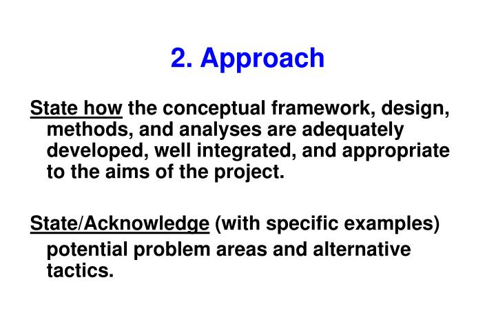 2. Approach