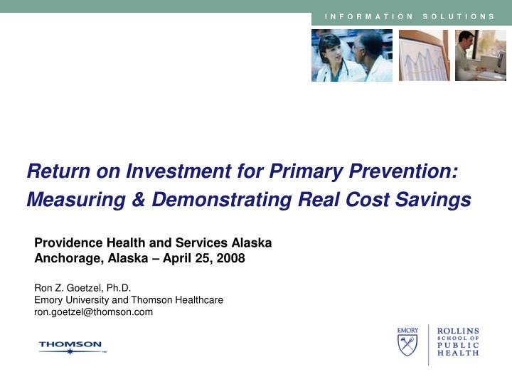 return on investment for primary prevention measuring demonstrating real cost savings n.