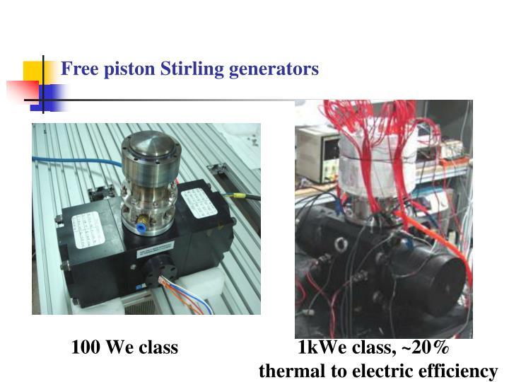 Free piston Stirling generators