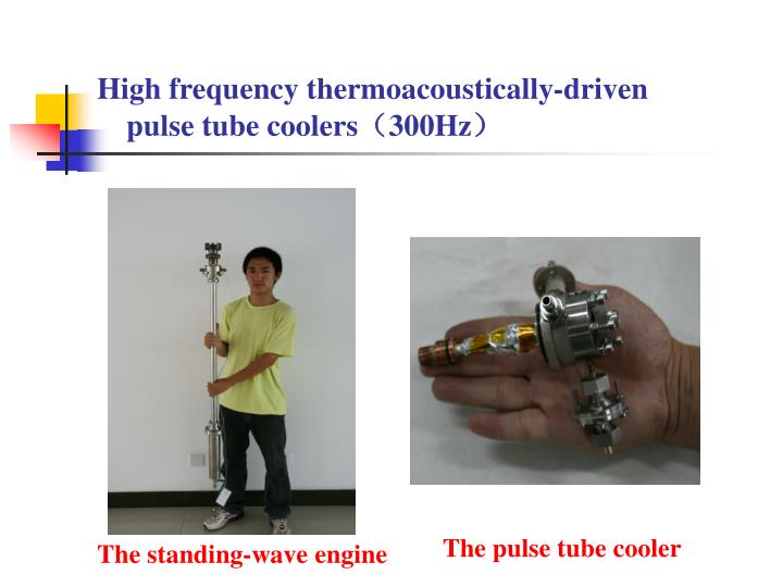 High frequency thermoacoustically-driven pulse tube coolers