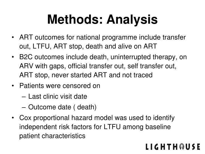Methods: Analysis