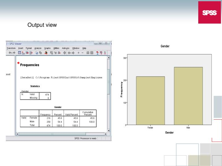 Output view