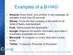 examples of a b hag