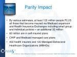 parity impact