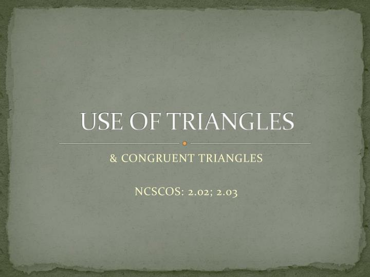 use of triangles n.