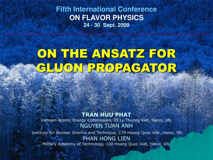 Fifth International Conference