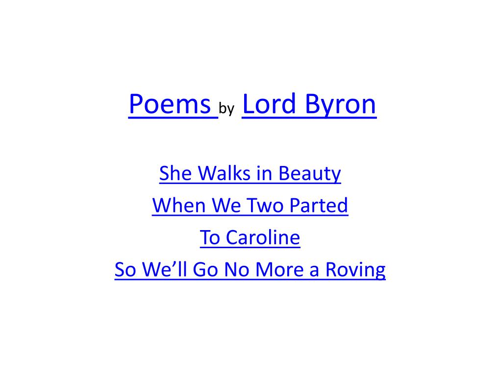 summary of when we two parted by lord byron