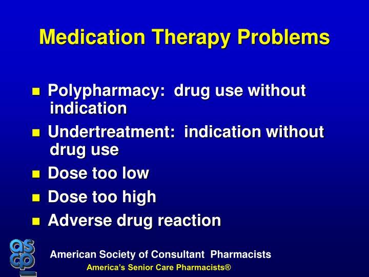 Polypharmacy:  drug use without indication