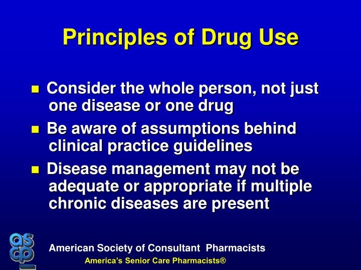 Consider the whole person, not just one disease or one drug