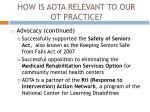 how is aota relevant to our ot practice1