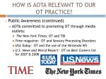 how is aota relevant to our ot practice3